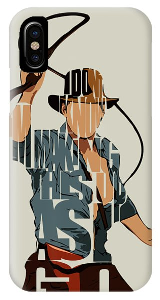 Mixed-media iPhone Case - Indiana Jones - Harrison Ford by Inspirowl Design