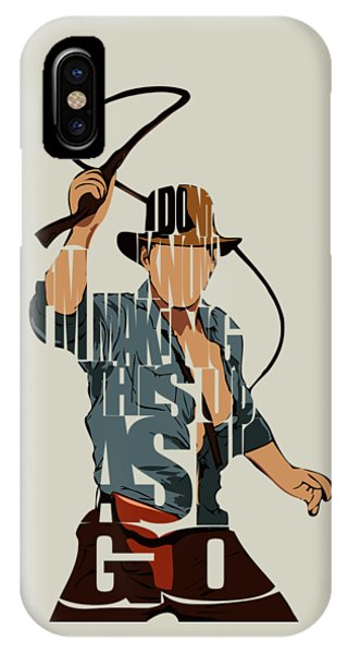 Temple iPhone Case - Indiana Jones - Harrison Ford by Inspirowl Design