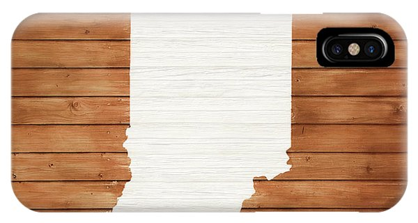 Traveler iPhone Case - Indiana Rustic Map On Wood by Dan Sproul