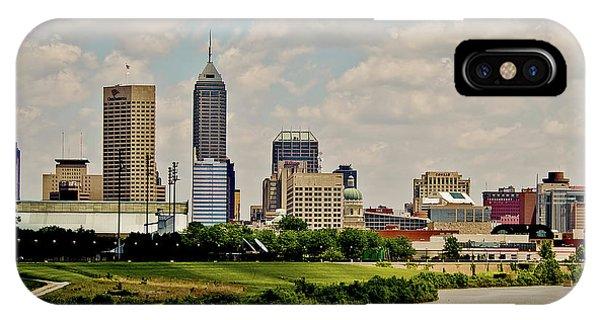 Indianapolis Skyline 25 IPhone Case