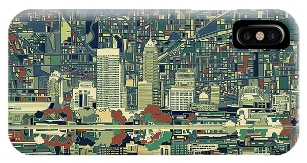 Indianapolis Skyline Abstract 3 IPhone Case