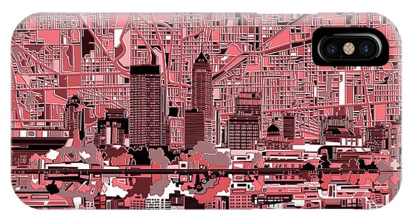 Indianapolis Skyline Abstract 8 IPhone Case