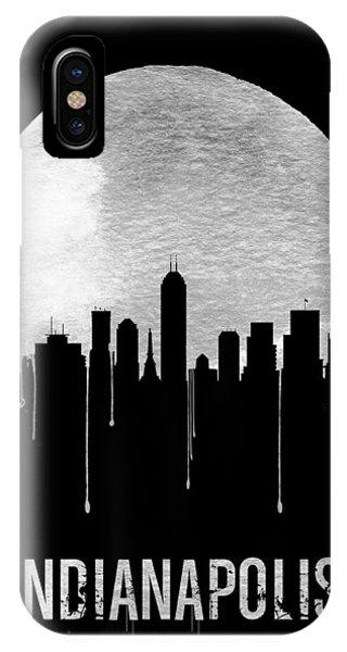 Midwest iPhone Case - Indianapolis Skyline Black by Naxart Studio