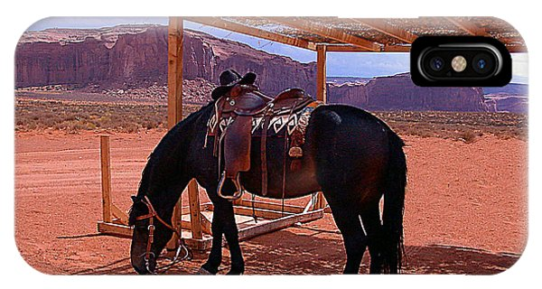 Indian's Pony In Monument Valley Arizona IPhone Case