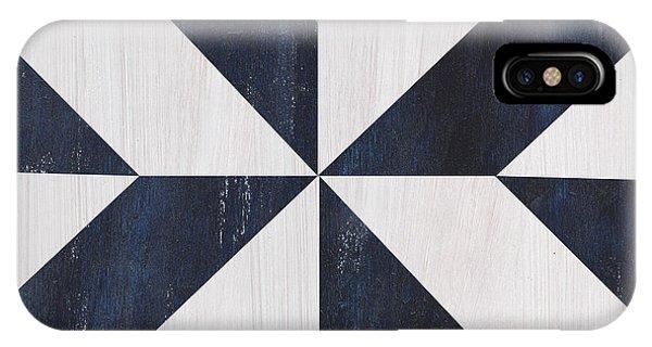Indigo And Blue Quilt IPhone Case