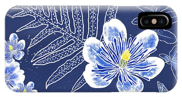 Indigo Batik Tile 3 - Laua'e IPhone Case
