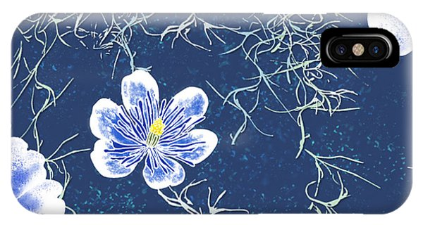 Indigo Batik - Tillandsia IPhone Case