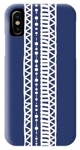 Indigo Batik Tribal Stripe IPhone Case