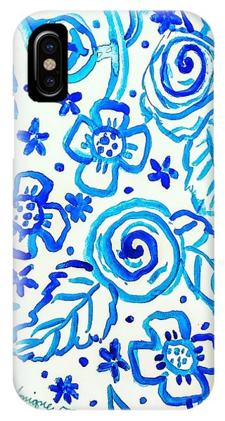 Indigo Blooms IPhone Case