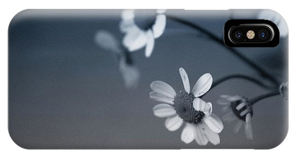 Daisy iPhone Case - Indigo Daisies 2- Art By Linda Woods by Linda Woods
