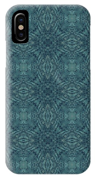 Indigo Diamond Cross Pattern 24in IPhone Case