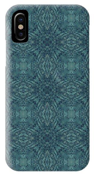 Indigo Diamond Cross Pattern 24in IPhone Case