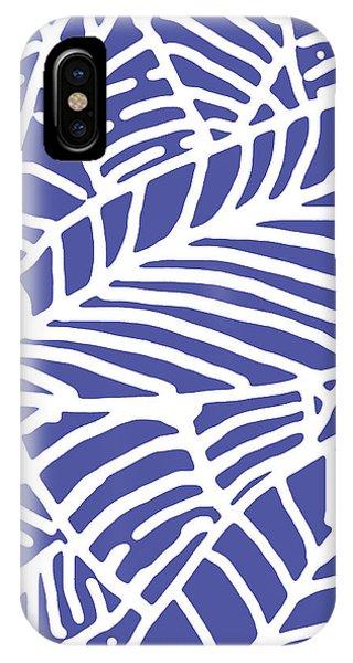 Indigo Leaves Batik IPhone Case