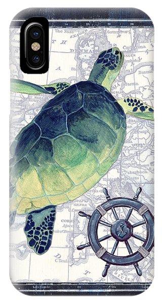 Sea Life iPhone Case - Indigo Maritime 1 by Debbie DeWitt
