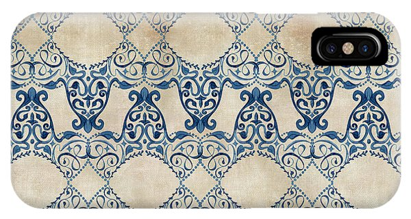 Repeat iPhone Case - Indigo Ocean - Caribbean Inspired Watercolor Swirl Pattern by Audrey Jeanne Roberts