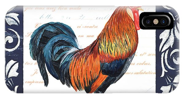 Rooster iPhone Case - Indigo Rooster 1 by Debbie DeWitt
