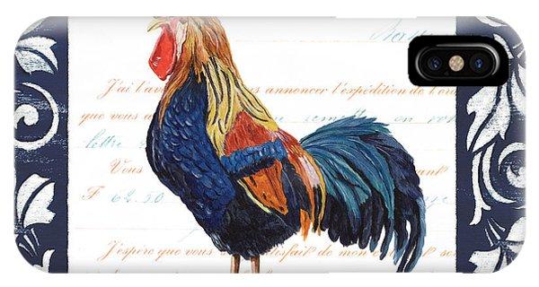 Colorful Bird iPhone Case - Indigo Rooster 2 by Debbie DeWitt
