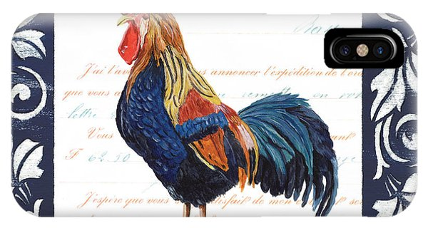 Agriculture iPhone Case - Indigo Rooster 2 by Debbie DeWitt