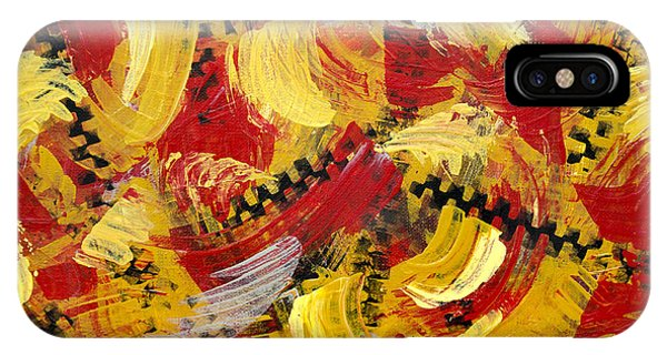 Technical iPhone Case - Industrial Abstract Painting IIi by Christina Rollo