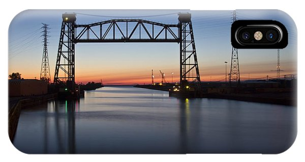 Industrial River Scene At Dawn IPhone Case