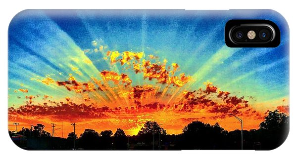 Infinite Rays From An Otherworldly Sunset IPhone Case