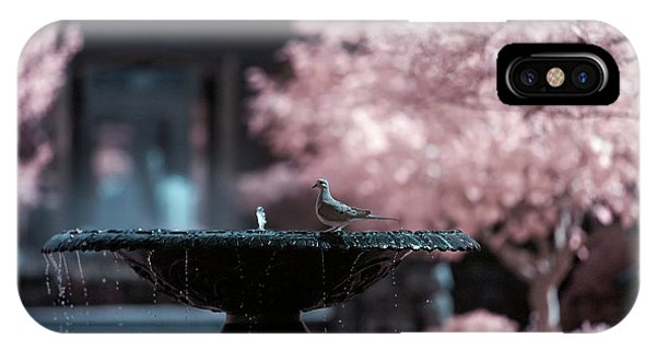 IPhone Case featuring the photograph Infrared Morning Dove by Brian Hale