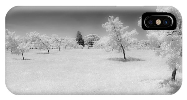 Infrared Peach Orchard IPhone Case