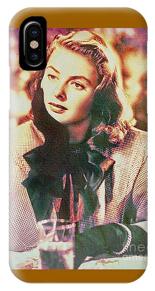 Ingrid Bergman - Movie Legend IPhone Case
