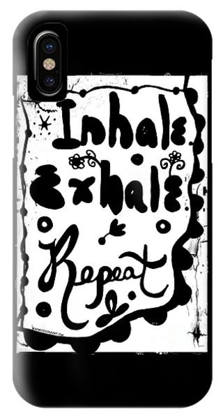 IPhone Case featuring the drawing Inhale Exhale Repeat by Rachel Maynard