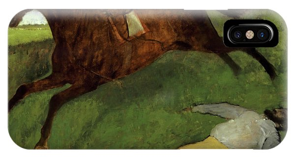 Accident iPhone Case - Injured Jockey by Edgar Degas