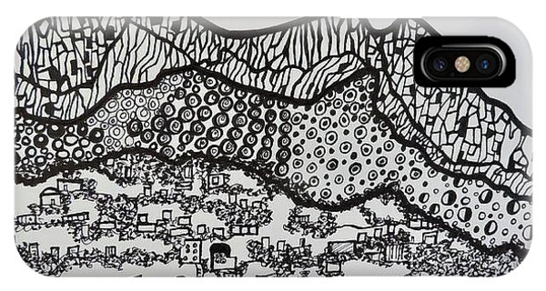 Ink Drawing Isle Of Capri Italy IPhone Case