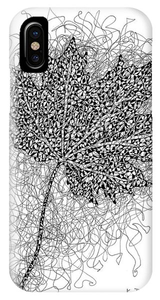 Ink Drawing Of Maple Leaf IPhone Case