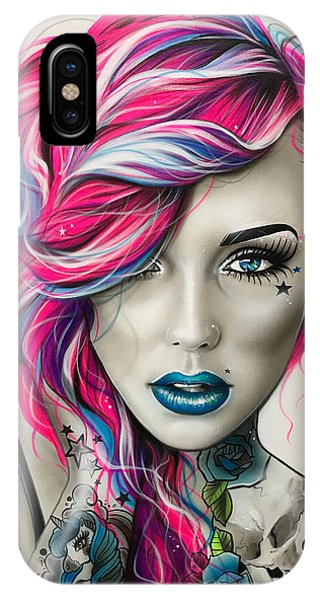 Neon iPhone Case - Inked Neon by Christian Chapman Art