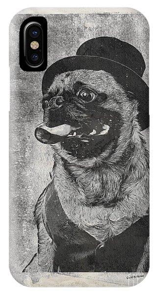 Inky Pug IPhone Case