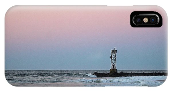 IPhone Case featuring the photograph Inlet Jetty At Dawn by Robert Banach