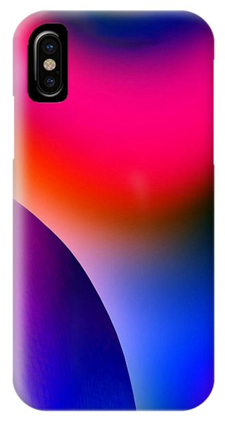 IPhone Case featuring the painting Inner Cosmos 2 Red I  Contemporary Digital Art by G Linsenmayer