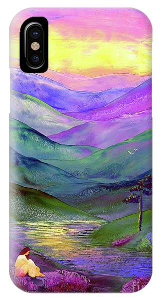 Lavender iPhone Case - Inner Flame, Meditation by Jane Small