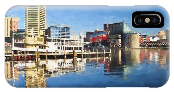 Inner Harbor Reflections  IPhone Case