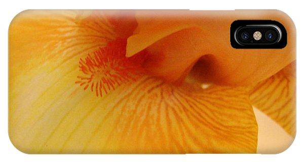 Inner Iris, Yellow, Close-up IPhone Case