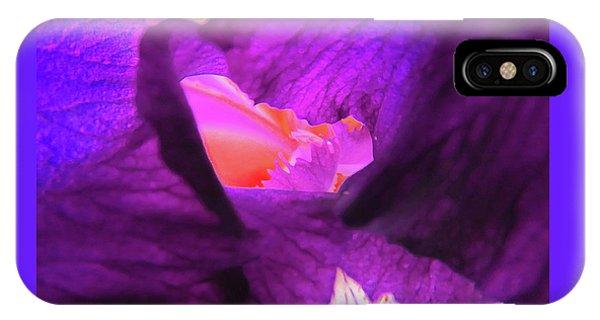 Inner Sanctum - Iris Macro - Floral Photography IPhone Case