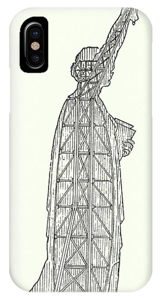 Inner World iPhone Case - Inner Structure Of The Statue Of Liberty by French School