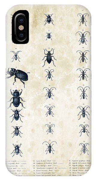 Coleoptera iPhone Case - Insects - 1832 - 09 by Aged Pixel
