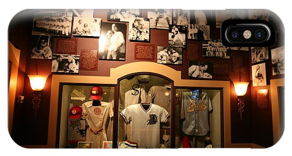 Baseball Hall Of Fame iPhone Case - Inside Baseball Hall Of Fame Displays I by Chuck Kuhn