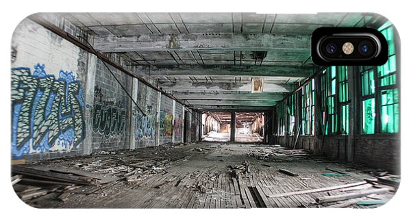 Inside Detroit Packard Plant  IPhone Case