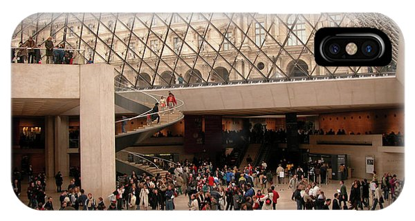 IPhone Case featuring the photograph Inside Louvre Museum Pyramid by Mark Czerniec