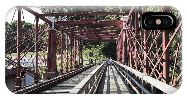 Inside The Bollman Truss Bridge At Savage Maryland IPhone Case