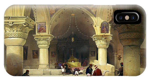 Inside The Church Of The Holy Sepulchre In Jerusalem IPhone Case