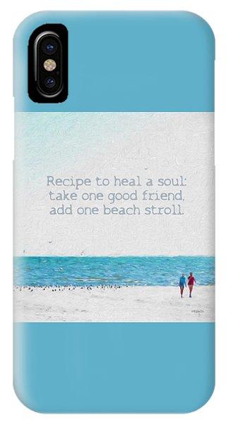 Inspirational Beach Quote Seashore Coastal Women Girlfriends IPhone Case