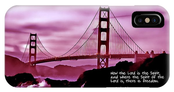 Inspirational - Nightfall At The Golden Gate IPhone Case