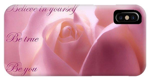 Inspirational Rose IPhone Case